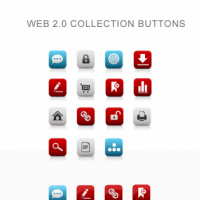 Web 2.0 Collection Buttons