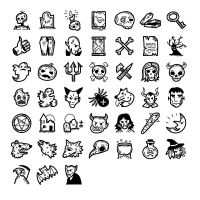 45 Spooky Halloween Handdrawn Icons