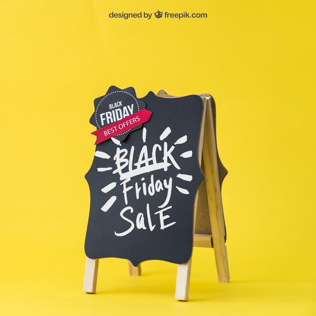 Black Friday Mockup With Decorative Board