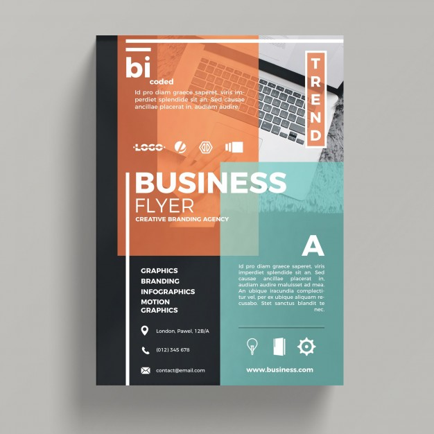Abstract Corporate Business Flyer Template