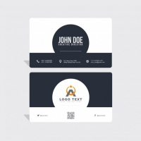 Modern Corporate Card In Black And White