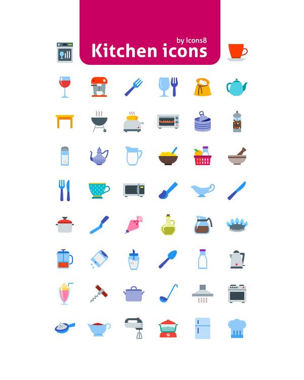 50 Kitchen Icons