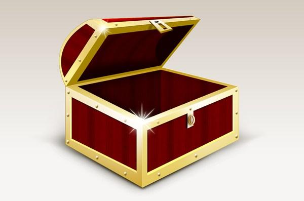 Treasure Box Graphic And Icons