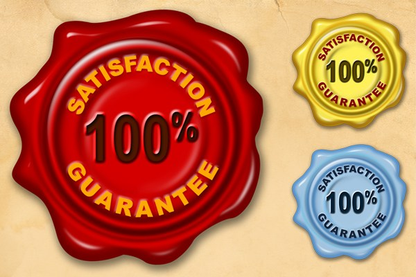 Satisfaction Guarantee Wax Seal