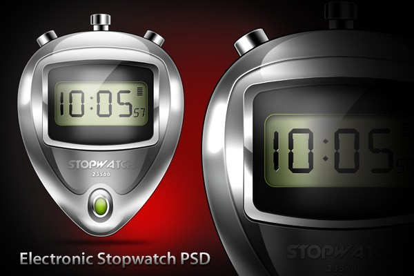 Electronic Stopwatch PSD & Icon