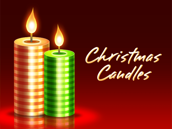 Christmas Candles PSD Download