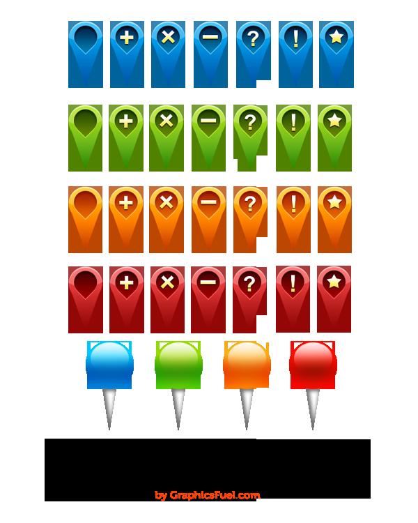 GPS Navigation Icons Part-1