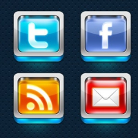 Shiny 3D Social Media Icons