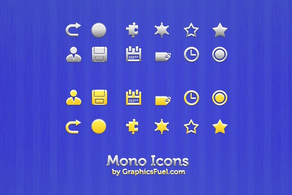 Clean Mono Icons