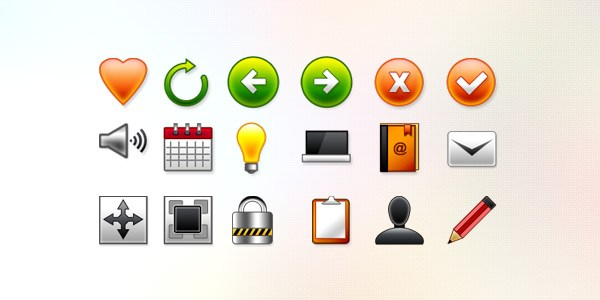 18 Vector Web Icons