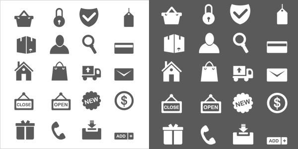 20 Minimal Ecommerce Icons