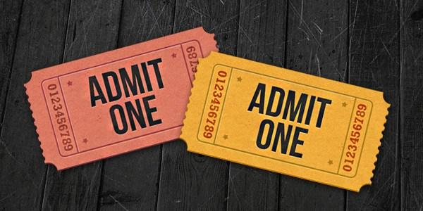 Admit-One Ticket Icons