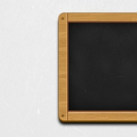 Wooden Black Chalkboard Icon