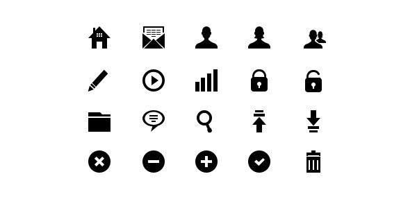 20 Pixel-Perfect Glyph Icons