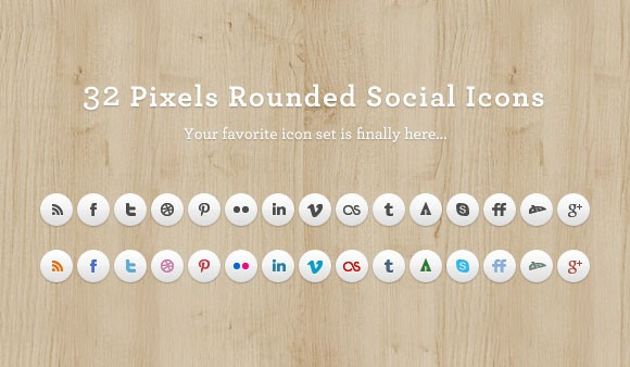 Rounded Social Media Icon Set