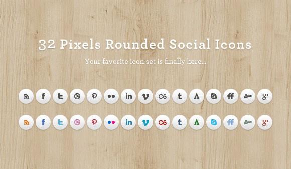 Rounded Social Media Icon Set