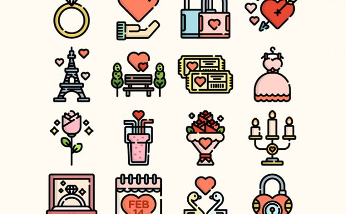 48 Cute Valentines Day Icon
