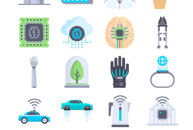 44 Free Technology Of The Future Themed Icon Set