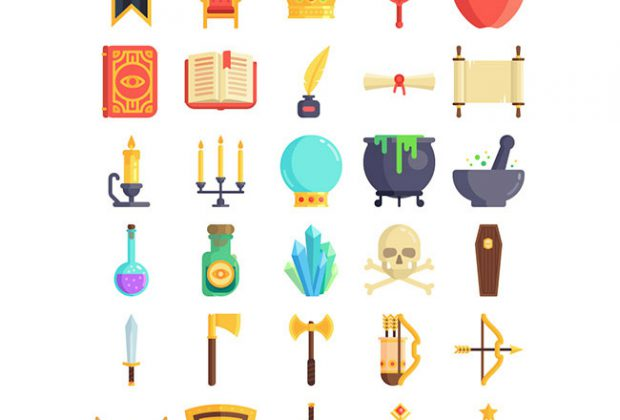 100 Free Fairy Tale Themed Icon Set