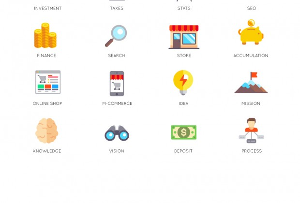 36 Free Business Icons Set