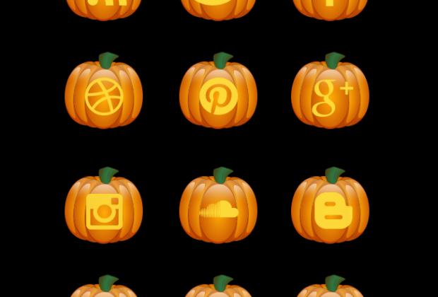 Halloween Pumpkin Free Social Media Icon Set