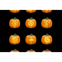 Halloween Pumpkin Free Social Media Icon Set