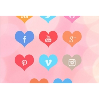 Beautiful Free Heart Social Media Icon Set