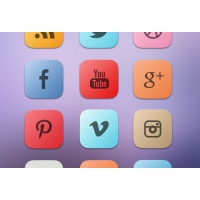 A Bold Curved Free Social Media Icon Set