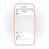 IPhone With Mobile UI kit Instagram