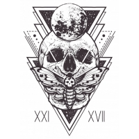 Skull Sacred Geometry Design