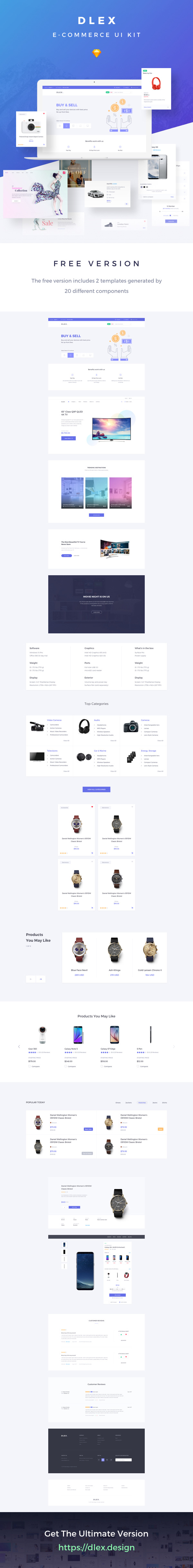 Dlex E-Commerce UI Kit – Free Sample