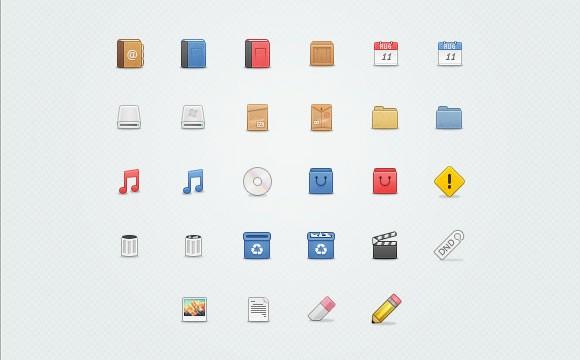 Ikonos Free PSD Icons