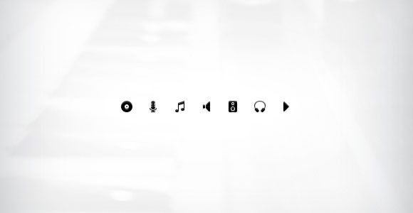 Music PSD Icon Set