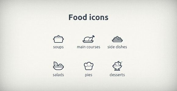 PSD Food Icons