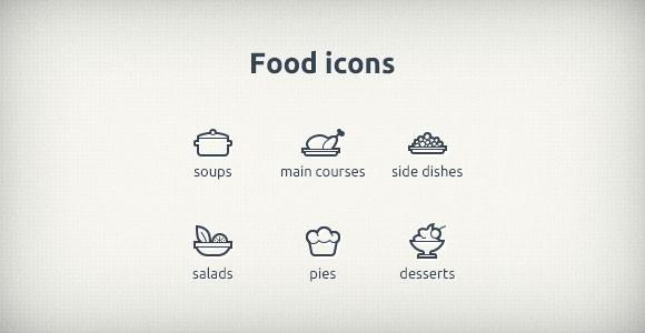 PSD Food Icons