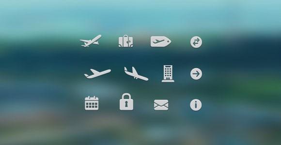 Free PSD Travel Icons
