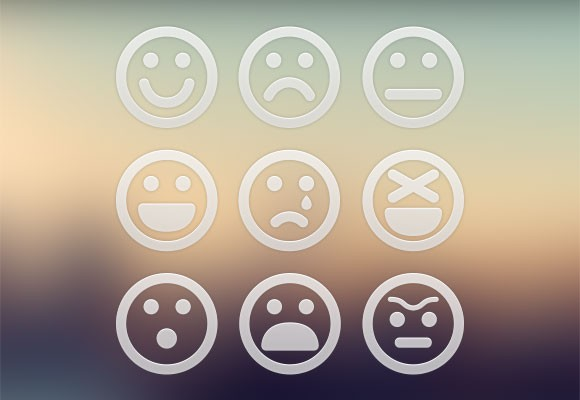 9 Big PSD Emoticons