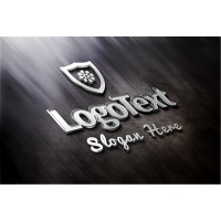 Elegant Metallic Logo Mockup