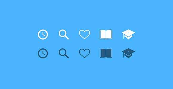 Educate Yoself – Education PSD Icons