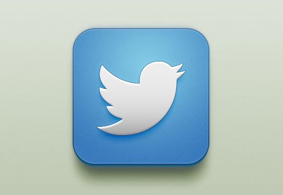 Free PSD Twitter iOS Icon