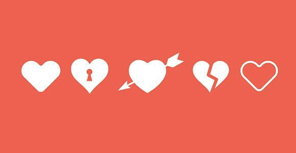 Love / Heart free PSD Icons