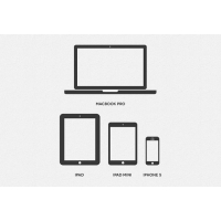 Minimal Apple Device Icons PSD