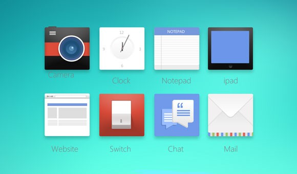 Modern Design Icons PSD