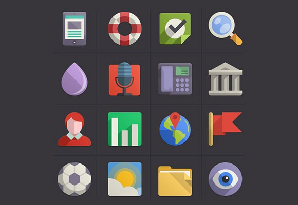 Flat Design Icons Vol4