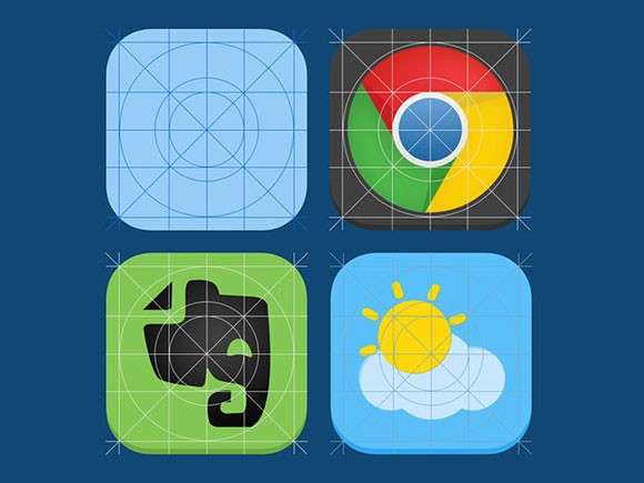 iOS7 Icon Guides PSD