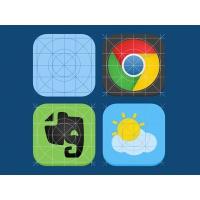 iOS7 Icon Guides PSD
