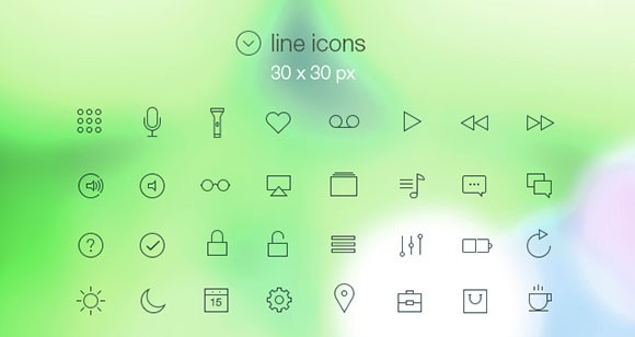 iOS7-Inspired Icons