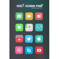 Free iOS7 Icons PSD