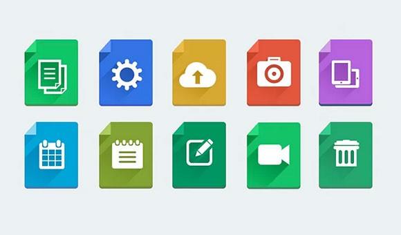 Flat-style Icon Set