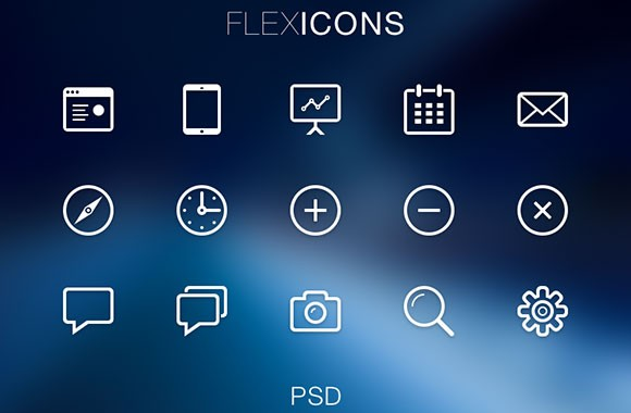 FlexIcons – PSD Icons